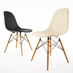 Here's the famous Side 3d chair model, from Eames Plastic Chairs. http://dimensiva.com/side-chair-by-vitra-eames/