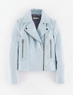Cropped Quilted Biker