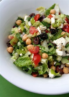 Greek Chopped Salad - yum!  I'd skip the chickpeas though just because I don't care for them, otherwise, this sounds amazing!