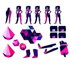 Ruby and Sapphire beginning to fuse into Garnet They successfully fuse into Garnet. Garnet flashes on her shades. Early concept art by Rebecca Sugar.