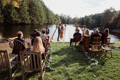 Small outdoor wedding on lake beach during the fall in the Adirondacks in Upstate New York. New York wedding packages. Upstate NY elopement packages. Adirondack Park, Adirondack Mountains, Lake Beach, Upstate New York, Lake George, Outdoor Weddings, New York Wedding, Elopements, New Hampshire