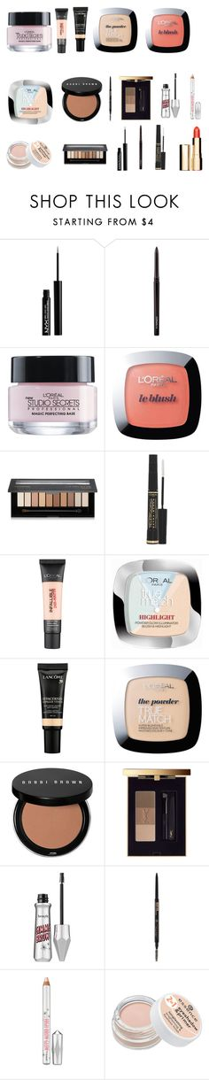 """Sch makeup"" by tyronewelle ❤ liked on Polyvore featuring beauty, NYX, MAC Cosmetics, L'Oréal Paris, Lancôme, Bobbi Brown Cosmetics, Yves Saint Laurent, Anastasia Beverly Hills, Benefit and Clarins"