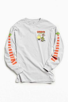 Slide View: 1: Courage The Cowardly Dog UFO Long Sleeve Tee