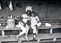 Play ball! 40 years behind the pitch as a Sports Illustrated photographer - The Washington Post: Hank Aaron, left, and Mickey Mantle at the 1975 All-Star Game, Milwaukee.