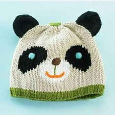 Best Newborn Baby Hats for Your Little Boy or Girl Panda Baby Hat awwwwwPanda Baby Hat awwwww Baby Hats Knitting, Knitting For Kids, Baby Knitting Patterns, Hand Knitting, Knitted Hats, Crochet Hats, Hat Patterns, Bonnet Panda, Newborn Beanie