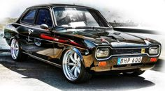 Old Black Ford Escort