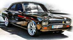 Old Black Ford Escort