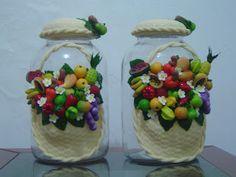 Biscuit Rochele: Vidro Frutas de Biscuit
