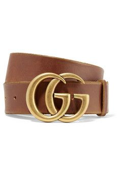 Gucci's brown belt is topped with the house's iconic 'GG' logo, making it a perfect gift for fans of the brand. It's crafted from supple leather and wide enough to thread seamlessly through the belt loops of your favorite jeans. Gucci Leather Belt, Brown Leather Belt, Brown Belt, Leather Buckle, Leather Belts, Suede Leather, Black Suede, Black Gold, Acne Studios