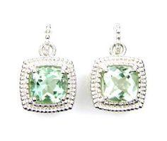 Prasiolite and Sterling Earrings