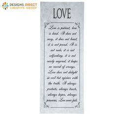 Love is Patient Wood Wall Decor