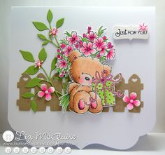 The Stamp Basket: Wild Rose Studio - Teddy with Present