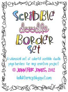 New Set of Scribble Doodle Borders