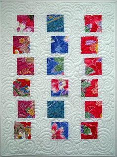 Modern quilt with swirls and circles