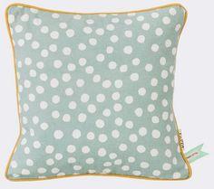 Ferm Living Cushion 'Dots' Cotton, light blue, 30x30cm