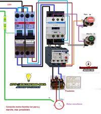 Esquemas eléctricos: conexion motor bomba monofasico con paro y marcha ...