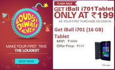Ebay Flash Sale - Buy iBall i701 at Rs 199 only
