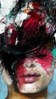 """AM Artwork - """"Ink Pink"""" Info Sale: pil4r@routetoart.com"""