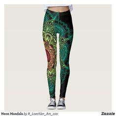 Neon Mandala #Leggings #style