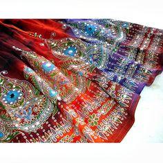 Gypsy Skirt: Boho Indian Knee Length Skirt, Bohemian Tie Dye Beach Summer Skirt Cover Up. $32.99, via Etsy.