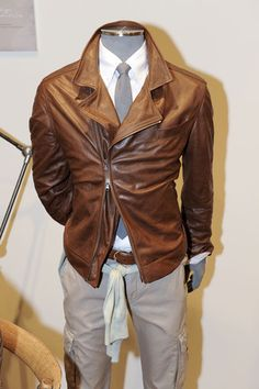 Cucinelli leather.