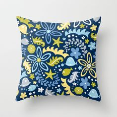 Tidal Pool Throw Pillow by Heather Dutton