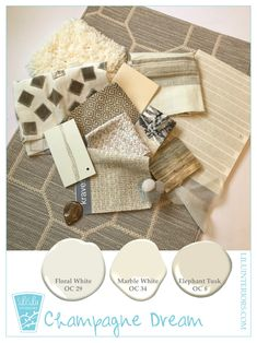White Design Palettes with soft champagne color Best White Paint, White Paint Colors, White Paints, Best Champagne, Champagne Color, Glow Palette, Interior Color Schemes, Design Palette, Textures And Tones