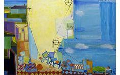 Moving in with Richard Diebenkorn, oil on canvas, Alexandra Rozenman