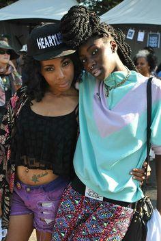 Girls at Afro Punk