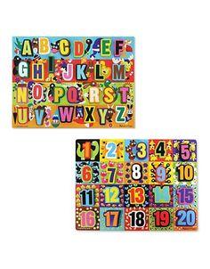 Melissa & Doug Chunky Puzzle Set  Multi