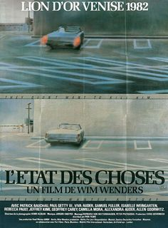 French poster for The State of Things (Wim Wenders, West Germany/USA, 1982).