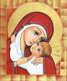 Icon of Mother & Child by Daniela Prezioso