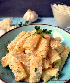 Ριγκατόνι με κρεμώδη σάλτσα από...κουνουπίδι: Ένας εναλλακτικός τρόπος για να απολαύσετε αυτό το υπέροχο λαχανικό! Rigatoni with creamy cauliflower sauce (alfredo): An alternative way to enjoy this yummy veggie!