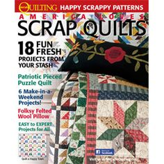 America Loves Scrap Quilts Winter 2012/2013 - Special Interest Publication of McCall's Quilting. Click link to see preview of all patterns in issue, and to find links to purchase print or digital download editions.