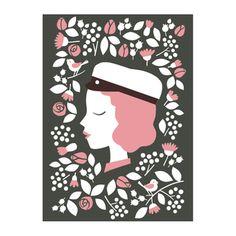 Kohopainettu kortti YO-tyttö | Polkka Jam Diy Invitations, Diy Cards, Surface Design, Bookmarks, Fathers Day, Birthday Cards, Stationery, Symbols, Letters