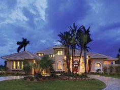 Eplans Mediterranean House Plan - Elegant Mediterranean Manor - 5564 Square Feet and 5 Bedrooms from Eplans - House Plan Code HWEPL13913