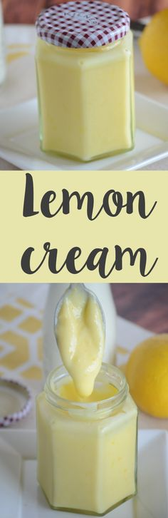 Easy homemade LEMON CREAM recipe! Make this at home - perfect for toast, pancakes or straight out of the jar!