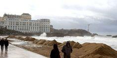 Lundi 3 mars 2014 - Biarritz - tempête.