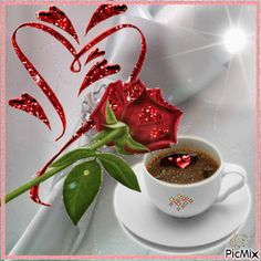 The perfect Nasserq GoodMorning Love Animated GIF for your conversation. Discover and Share the best GIFs on Tenor. Good Morning Coffee Gif, Good Morning Messages, Good Morning Greetings, Good Morning Good Night, Morning Images, Morning Rose, Morning Flowers, Coffee Cup Art, Coffee Love