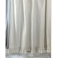 Linen Ticking Striped Shower Curtain with Ruffle Hem. Handcrafted in 100-percent natural linen. Linen ticking stripe is weaved from natural linen and soft white linen. The subtle stripe design completes the look.  http://ift.tt/2mPJRAI   Double tab for more images.  #fortheloveoflinen #linen #bedlinen #tellmemore #interior4all #linenbedding #pureline #purelinenutrition #interiordecor #bedroomdecor #bedroominspiration #handmade #handmadebedding  #tailoredmade #instadaily #linenshowercurtain…