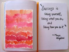 Art Journal - The Definition of Success - The Peaceful Mom