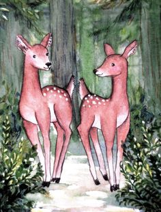 All Occasion Card-Friendship Card-Deer in the by EmmysAnimals