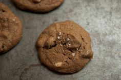 Salted Double Chocolate Peanut Butter Cookies recipe - I would likely use cup brown sugar and white. Brown sugar makes cookies chewy while white will make them crisp. Skippy Peanut Butter, Chocolate Peanut Butter Cookies, Salted Chocolate, Peanut Butter Cookie Recipe, Chocolate Peanuts, Cookie Recipes, Decadent Chocolate, Chocolate Lovers, Brownie Recipes
