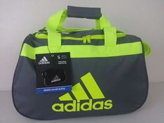 NWT ADIDAS Diablo Small II Duffel Bag Charcoal Yellow Sport Gym Travel Carry On #adidas #ebay #adidas #DiabloSmall