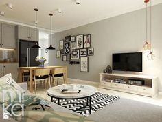 Między czernią a bielą - Salon, styl eklektyczny - zdjęcie od M!kaDesign