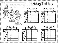 Holiday Math Practice Pages, Activities and Games! Over 40 Pages of Fun!
