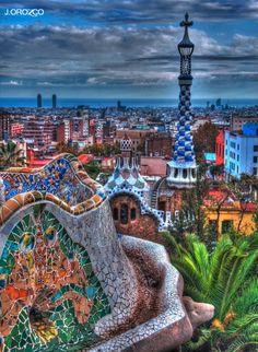 Parque Guell by Gaudi, Barcelona, España
