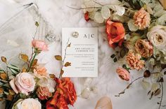 Beautiful floral details set the scene for this stunning autumn celebration.