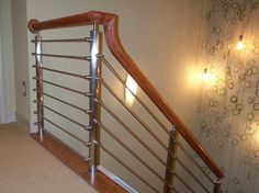Cable Railing Systems, Newel Posts, Wood And Metal, Contemporary, Modern, Interior And Exterior, Stairs, Southern, Trendy Tree