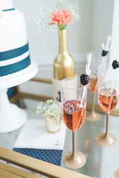 Chic Champagne Nautical Wedding Cocktail